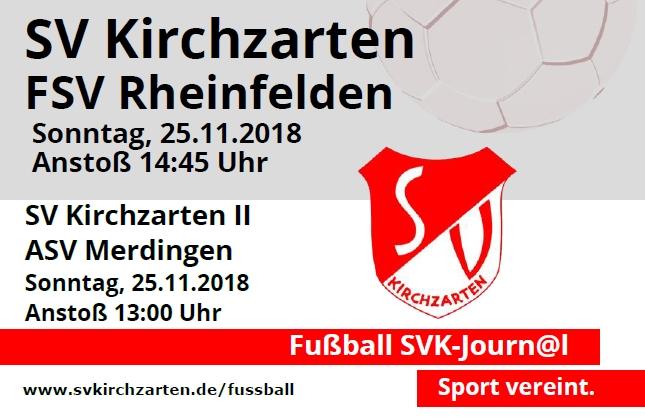 Fußball Heimspiele und Stadionheft KW47